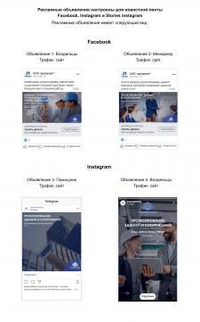 Таргетинг для строительной компании FB и Instagram