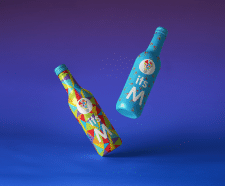 Дизайн этикетки напитка для канала