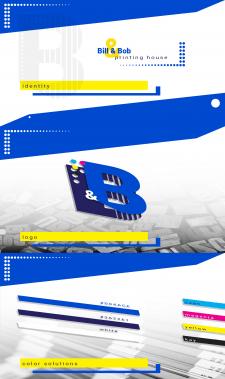 Логотип типографии Bill&Bob