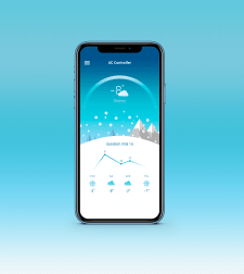 Weather App Designs in Photoshop
