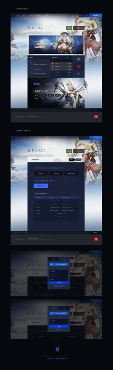 Lineage Modern Fantasy Game Website Template