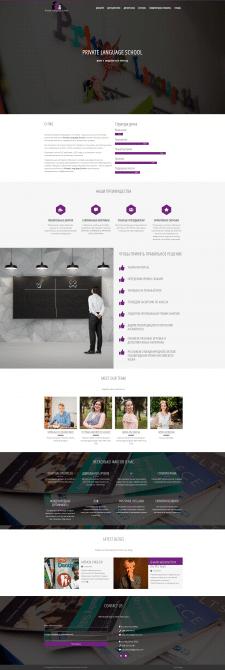 Сайт школы английского на шаблоне WordPress