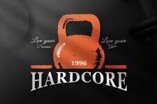 Логотип тренажерного зала «Hardcore»