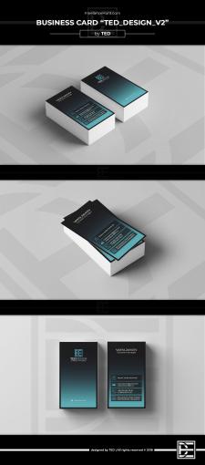"""Пример дизайна визитки """"TED_Design v2"""""""