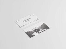 Двусторонняя визитка для фотографа