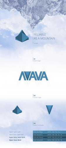 Логотип и айдентика кампании Lava GMbH