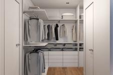 Дизайн итнерьера спальни дома в стиле минимализм