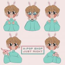 Персонаж для k-pop магазина