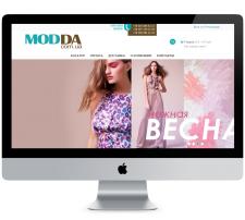 """Создание """"под ключ"""" + SEO сайта Modda.com.ua"""