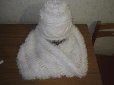 Шарф-снуд и шапочка размер головы 55-57
