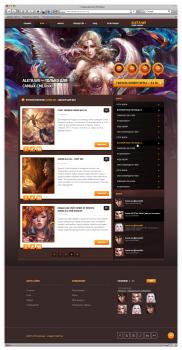 Дизайн игрового сайта «Aleta»