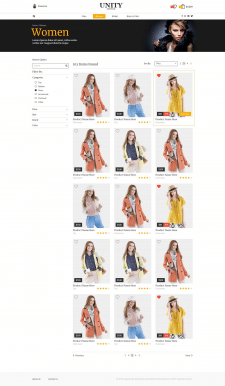 Uinity Fashion Store (Categories Page)