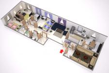 3д планировка апартаментов