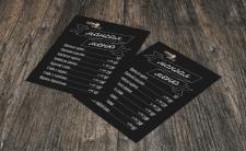 Мангал меню для ресторану швидкого харчування