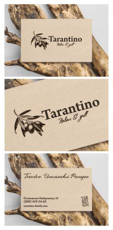 Визитки ресторана TARANTINO Italian & Grill