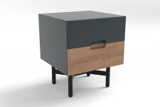 Chevet 2 tiroirs lora gray wood