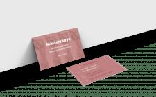 "Дизайн визитки для интернет-магазина ""Masterskaya"""