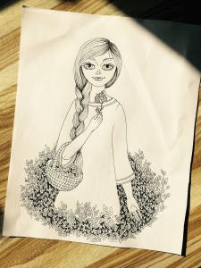 Дівчина в квітах