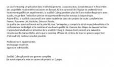 Описание компании на французском языке