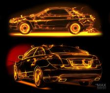 стилизация автомобилей под пламя