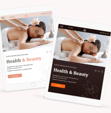 Landing page for spa-salon