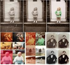 Раскраска черно-белых фотографий