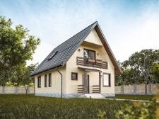 Визуализация бюджетного дачного дома.