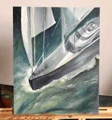 """Картина """"Лодка"""", 40 х 50 см, масло, 2018 год"""