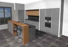 Дизайн кухни в стиле лофт (PRO100)