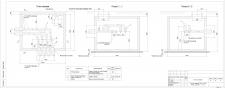 Тепловая сеть-тепловая камера (план, разрезы)