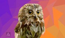 lowpoly owl