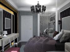Дизайн спальни в стиле арт-деко#