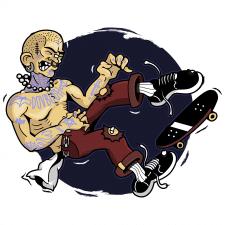 Ілюстрація скейтера