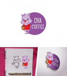 «OVA COFFEE» - сеть кофеен. Логотип