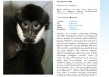 Описание питомца Екатеринбургского зоопарка
