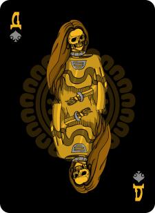 Spielkarten Indians- Skelette3