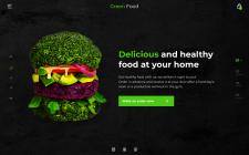 Дизайн сайта для доставки вегетарианской еды
