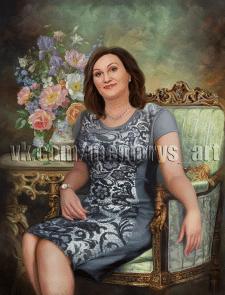 Портрет в образе под масляную живопись