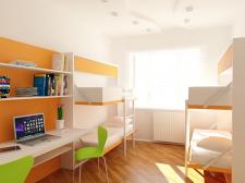 Дизайн інтер'єру кімнати студентського гуртожитку