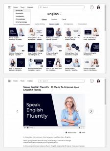 Веб-интерфейс для онлайн изучения языков