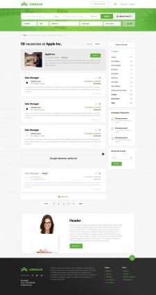 Дизайн сайта по поиску работы