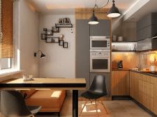 Кухня в стиле Лофт для молодой девушки