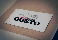 "Логотип пиццерии ""Gusto"""