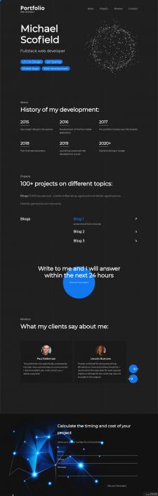 Дизайн + верстка сайта.
