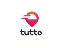 Концепция логотипа для доставки еды из ресторанов