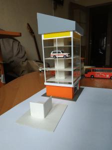 Макет офисного здания