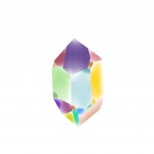 Кристалл многоцвет