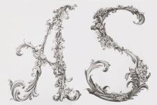 Буквы в стиле барокко