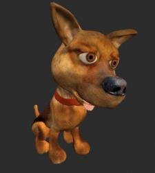 Собачка лоу-поли + анимация