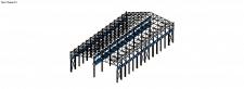 3D расчетной схемы стального каркаса. ПК Лира Сапр